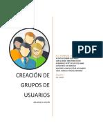 Creación de Grupos de Usuarios