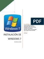 Instalación de w7