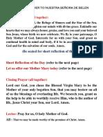 Novena Prayer to Nuestra Señora de Belen