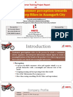 A Study on Customer Perception Towards Hero Motocorp Bikes in Azamgarh City