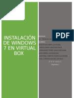 Instalación de W7 en Virtual Box 2.0