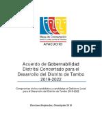 Modelo Impresión Acta Del Acuerdo de Gobernabilidad Tambo