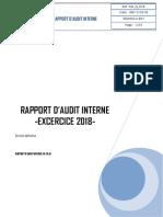 LE RAPPORT D'Audit Interne