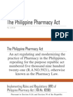RA 10918 - Philippine Pharmacy Act