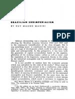 Marini 1972, brazilian subimperialism