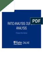 Ratio Analysis DuPont Analysis