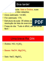 Química PPT - Sais