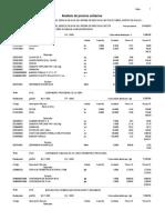 Análisis de Costos Unitarios Riego