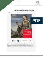 I restauri delle opere di Giovanni Santi tra diagnostica e intervento - Adriaeco.eu, 9 marzo 2019