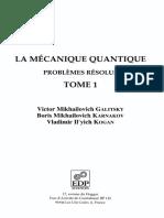 Victor M. Galitsky, Boris M. Karnakov, Vladimir I. Kogan - La mécanique quantique, problèmes résolus - Tome 1-EDP Sciences (2002).pdf