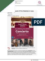 Al Teatro Sanzio il Trio Dmitrij  e Anna Serova -Il Mascalzone.it, 9 marzo 2019