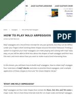 How to Play Maj7 Arpeggios