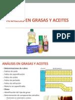 Análisis en Grasas y Aceites