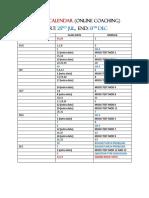 Course Calendar Online