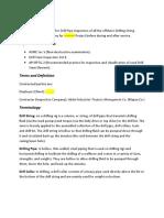 Drilling Pipe Procedure