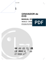 Gravador de DVD LG DR7923B Manual Do Usuario