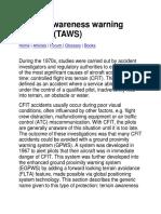 Terrain Awareness Warning Systems