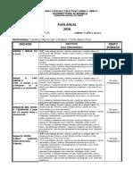 Planificacion anual Arte 5° E. Basica.2018