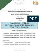 ELABORATION ET ÉTUDE PHYSICO-CHIMIQUE DE QUELQUES COMPOSITES BIOACTIFS - MOHAMMED HADRI