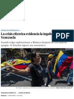La Crisis Eléctrica Evidencia La Ingobernabilidad de Venezuela _ Internacional _ EL PAÍS