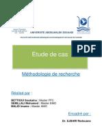 etude de cas Cours ENCG Méthodologie de Recherche
