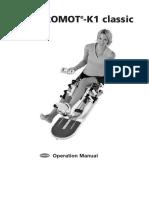 2012 Artromot K1 User Manual