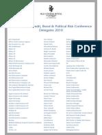 13th Biennial Credit, Bond & Political Risk Conference 2010