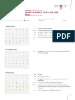 Calendário 2019.1 - Licenciaturas