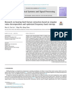 Research on Bearing Fault Feature Extraction Based on Singular Value Decomposition and Optimized Frequency Band Entropy