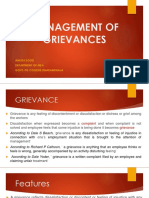 Grievance Notes
