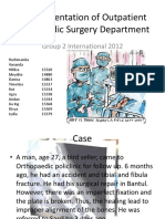 Case Presentation of Outpatient Orthopaedic Surgery Department
