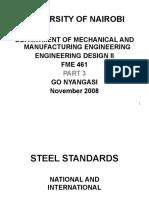 Material steel standards