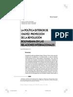 Política Exterior de Hugo Chavez 1999- en adelante
