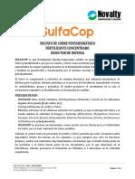 Novalty Dt, Ficha Tecnica - Sulfacop