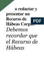 Hábeas Corpus Pautas