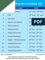 Klassroom Schedule 2019 June 1