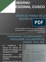 Avances GRD Gobierno Regional Cusco