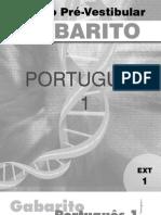 Português - Pré-Vestibular Dom Bosco - gab-por1-ex1