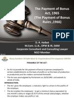 PPT 7 Payment of Bonus Act,1