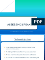 1 Assessing Speaking