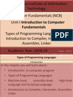 Unit-I - Introduction to Computer Fundamentals-AWI-Chapter-04 and 05-Types of Programming Languages and Introduction to Compiler, Interpreter, Assembler, Linker.pptx