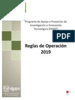 2019 Papiit Reglas Operacion