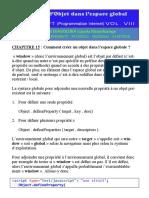 Javascript_tome_viii - Creation d'Objet Dans l'Espace Globale