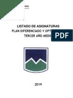 Plan Diferenciado Optatividad 3 2019