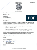 Kern County Sheriff's Office Jan. 31, 2019 public records request response