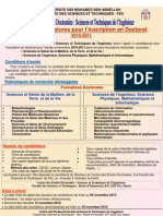 Appel Candidature Doctorat