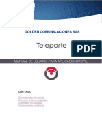 Teleporte App Manual Golden