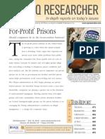 For Profit Prisons