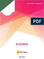 5to grado de primaria - ÁLGEBRA Libro de Teoría