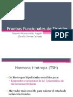 Pruebas de Función tiroidea y paratiroidea
